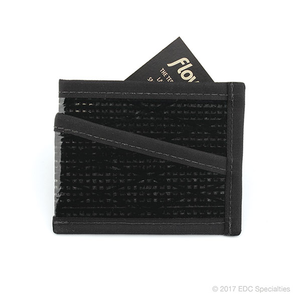 Flowfold Craftsman Three Pocket Wallet Black Pearl