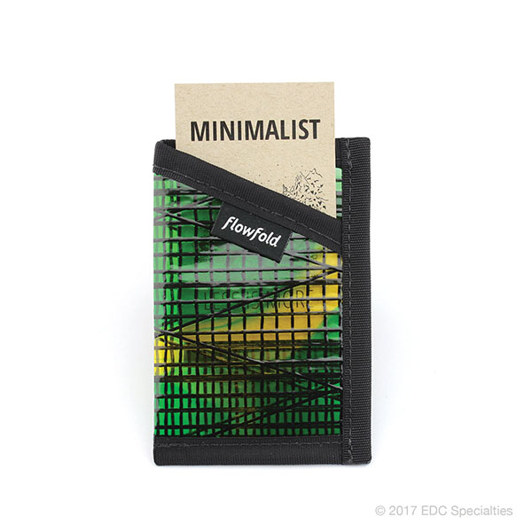 Flowfold Minimalist Card Holder Wallet Green