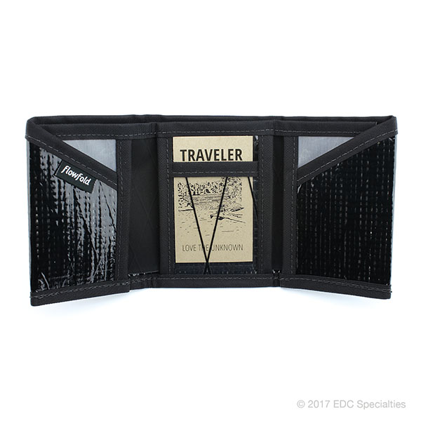 Flowfold Traveler Trifold Wallet Black