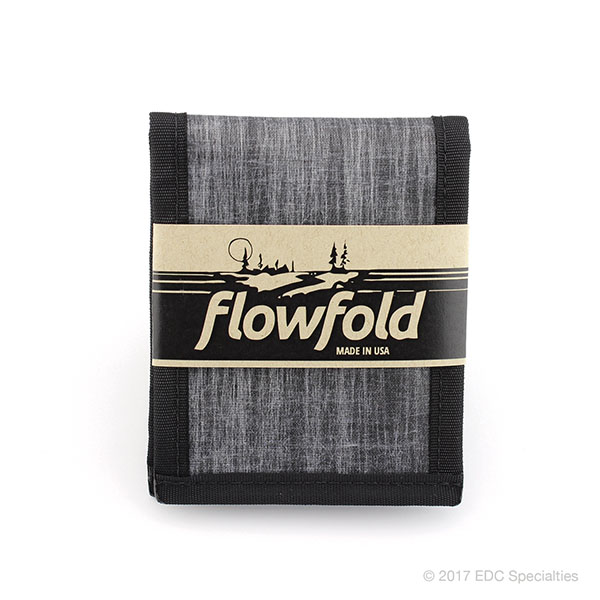 Flowfold Vanguard Limited Billfold Wallet Heather Grey