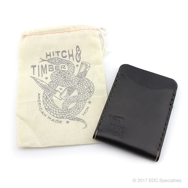 Hitch & Timber Black Flat Jacket Wallet ~ Leather Front Pocket
