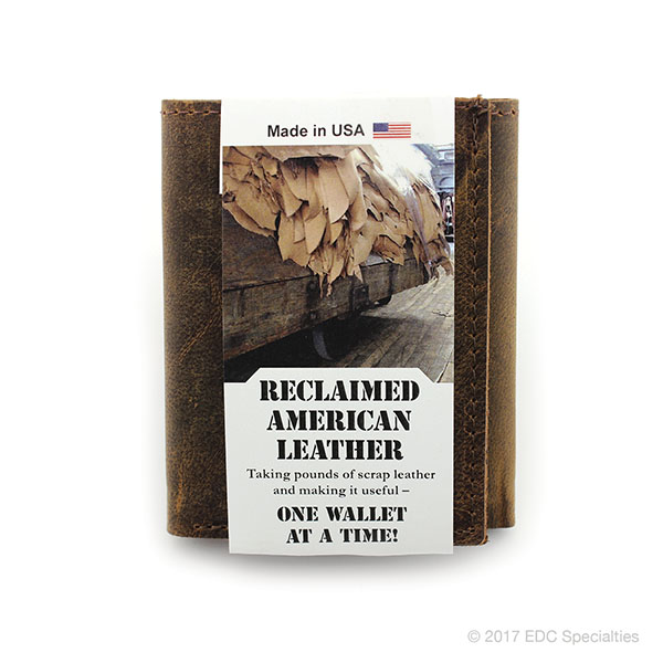 Kingport Industries Reclaimed American Leather Trifold Wallet