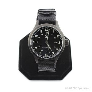 Smith & Bradley Springfield PVD Coated Black Watch with Black G10 NATO Strap