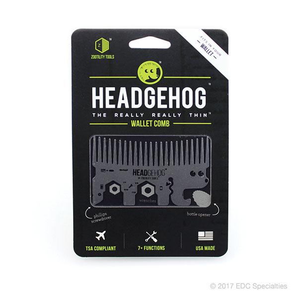Zootility Tools Headgehog Pocket Comb Multitool Silver
