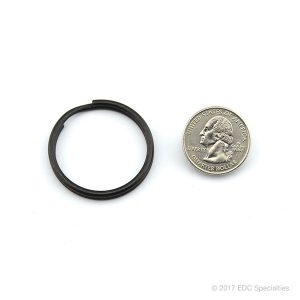 Key-Bak 1-1/4″ Black Split Ring