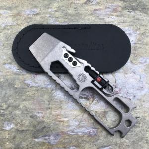 FRT First Responder Tool by Kobra Knucks with Black Leather Sheath