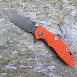 Rick Hinderer Knives XM-18 3″ Harpoon Tanto WF Orange G10 S35VN