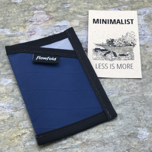 Flowfold Minimalist Card Holder Wallet Blue