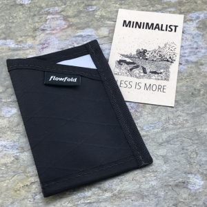Flowfold Minimalist Card Holder Wallet Black