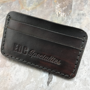 Handmade American Leather Minimalist Wallet Dark Brown