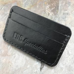 Handmade American Leather Minimalist Wallet Black