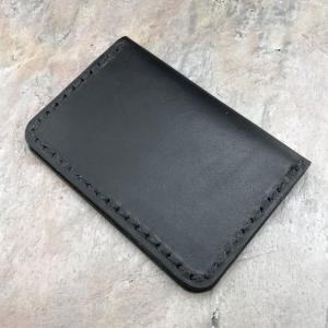 Handmade American Leather Minimalist Folder Wallet Black