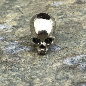 Villain Skull Lanyard Bead White Bronze Jawless