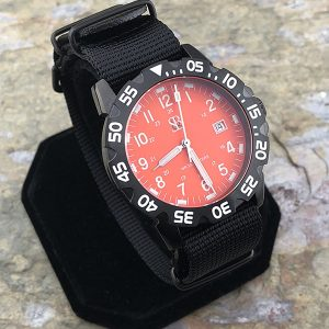 Smith & Bradley Sans-13 Stainless PVD Coated Orange Watch with Interchangeable Straps