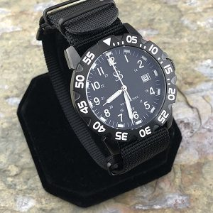 Smith & Bradley Sans-13 Stainless PVD Coated Black Watch with Interchangeable Straps