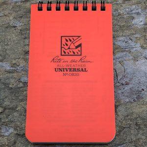 Rite-In-The-Rain Waterproof Note Pad Orange