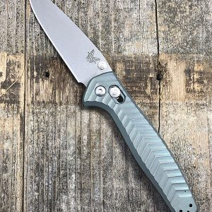 Benchmade 781 Custom Anodized Anthem Distressed Liberty Green