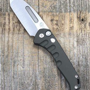 Medford Knife & Tool Praetorian Swift Auto S35VN Satin Blade OD Green Aluminum Chassis