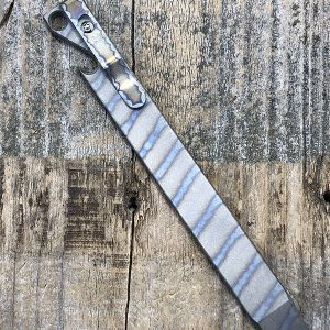 "Maverick Customs 6″ Titanium Prybar w Custom Anodizing ""Flame Stripe"""