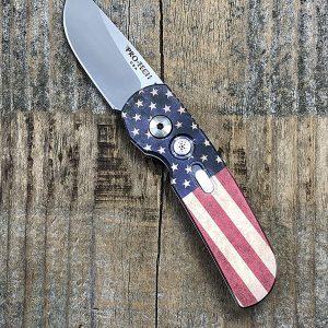 Protech Knives 2203 Calmigo Vintage Flag CA Legal Auto #237